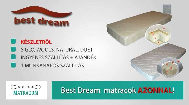 Best Dream matracok azonnal