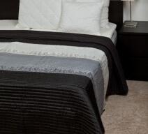 Naturtex Taft ágytakaró fehér szürke fekete színben