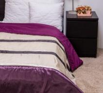 Naturtex Taft Elegant Purple 235x250cm ágytakaró